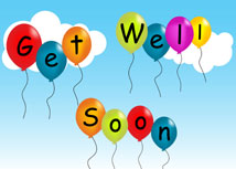 Floating Balloons Get Well Card
